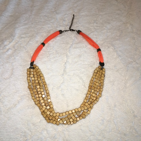 Jewelry - Rustic Wooden Bead Chunky Necklace